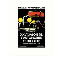 Vector art deco Brussels 1930s auto salon Art Print