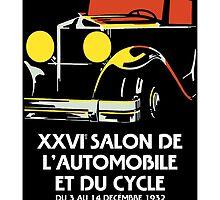 Vector art deco Brussels 1930s auto salon by aapshop