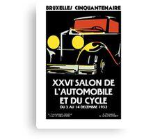 Vector Art Deco Brussels 1930s auto salon Canvas Print