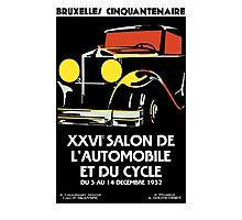 Vector Art Deco Brussels 1930s auto salon Photographic Print