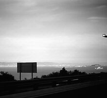BW USA California San Francisco bay Alcatraz island 1970s by blackwhitephoto