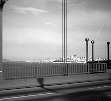 BW USA California San Francisco Golden Gate Bridge 1970s by blackwhitephoto