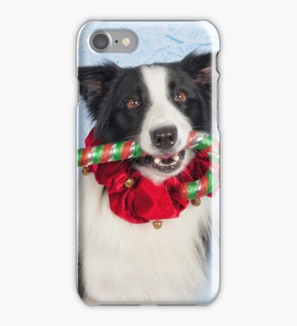 Candy cane thief iPhone Case/Skin