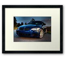 Blue Beemer Framed Print