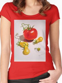 Tomatoes Dance Women's Fitted Scoop T-Shirt
