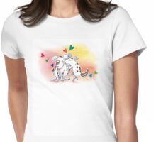 """Valentine's Day """"Love Dogs"""" T-Shirt Cards Womens Fitted T-Shirt"""