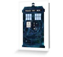 Doctor Who's TARDIS - Galaxy Intro Vortex  Greeting Card