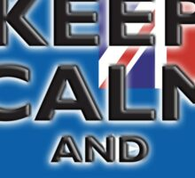 AUSTRALIA, AUSTRALIAN FLAG, KEEP CALM & CARRY ON, Australia, Aussie Sticker