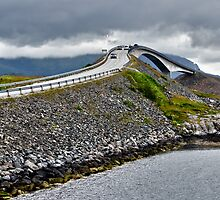 The Highest Bridge on the Atlantic Road, Norway by Gerda Grice