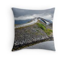 The Highest Bridge on the Atlantic Road, Norway Throw Pillow