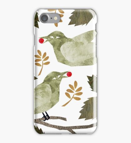 Birds and Holly iPhone Case/Skin