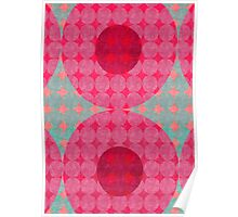 Dots :: Purple, Red and Turquoise Poster