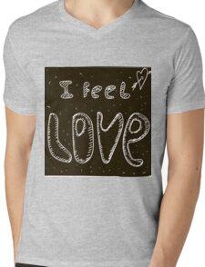 I feel love Mens V-Neck T-Shirt