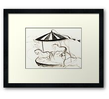 Merry Go Round in Kabul Framed Print