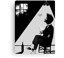 the poet & the moth Canvas Print