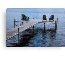 Lounging at Pier's End Canvas Print