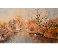 Autumn on the canal - West Hythe Photographic Print