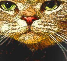 Top Hat Retro Cat Tee! Sticker