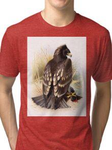 Spotted Eagle illustration Tri-blend T-Shirt