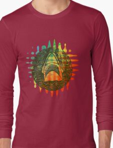 Multi coloured shark  Long Sleeve T-Shirt