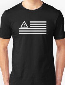 Warning Sign - Black & White Flag T-Shirt