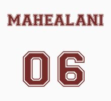 Danny Mahealani Jersey from Teen Wolf - Red Text by CaptainFlowers5