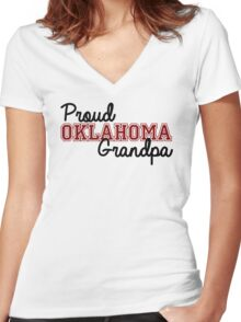 Proud Oklahoma Grandpa Women's Fitted V-Neck T-Shirt
