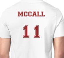 Scott McCall Jersey from Teen Wolf - Red Text Unisex T-Shirt