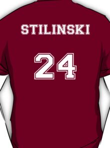 Stiles Stilinski Jersey from Teen Wolf - White Text T-Shirt