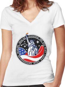 NROL 26 Program Crest Women's Fitted V-Neck T-Shirt