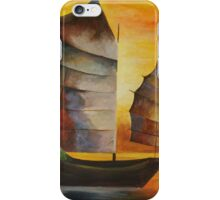 Chinese Junk In Shades Of Ochre and Umber iPhone Case/Skin
