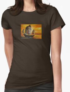 Chinese Junk In Shades Of Ochre and Umber T-Shirt