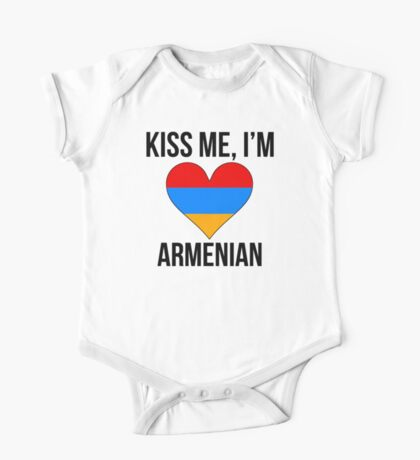 Kiss Me I'm Armenian One Piece - Short Sleeve