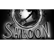 Saloon Lady Photographic Print