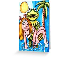 Kermeature From The Black Lagoon Greeting Card