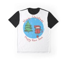 Girl with Christmas ball Graphic T-Shirt