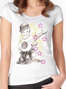 b/n guitarist Women's Fitted Scoop T-Shirt
