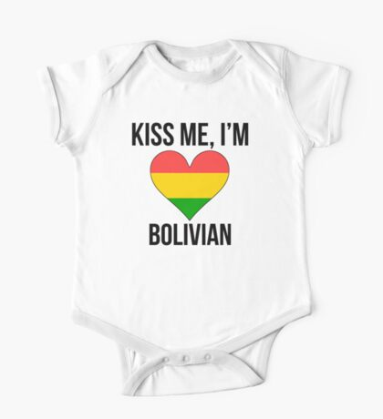 Kiss Me I'm Bolivian One Piece - Short Sleeve