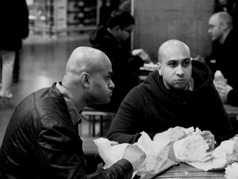 Food Hall Customers by Andrew  Makowiecki