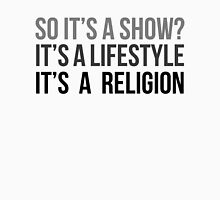 Show. Lifestyle. Religion. (v1) Womens Fitted T-Shirt