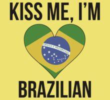 Kiss Me I'm Brazilian Kids Tee