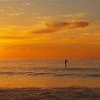 Lone paddleboarder by geophotographic