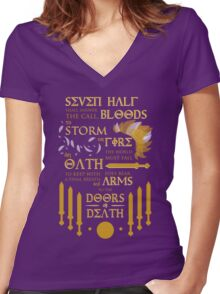 The Prophecy of Seven Women's Fitted V-Neck T-Shirt