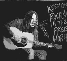 Neil Young - Keep On Rockin In The Free World by JBPhotographs