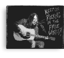 Neil Young - Keep On Rockin In The Free World Canvas Print