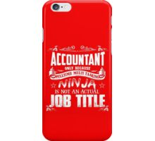 Proud Accountant iPhone Case/Skin