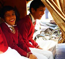 Laughing school boys in India. by wehavegrown