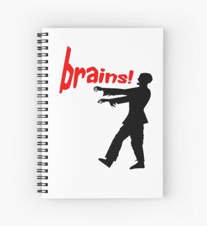 agggh! brains! Spiral Notebook
