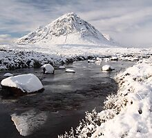 Glencoe winter landscape by Photo Scotland