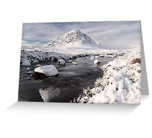 Glencoe winter landscape Greeting Card